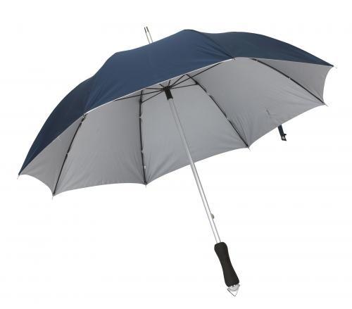 Parasol, JOKER, granatowy/srebrny
