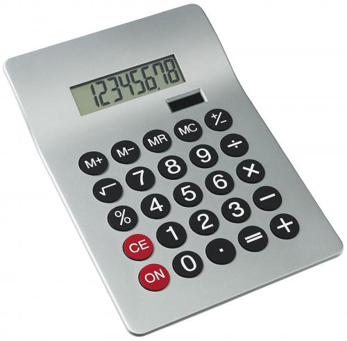 Kalkulator GLOSSY, srebrny