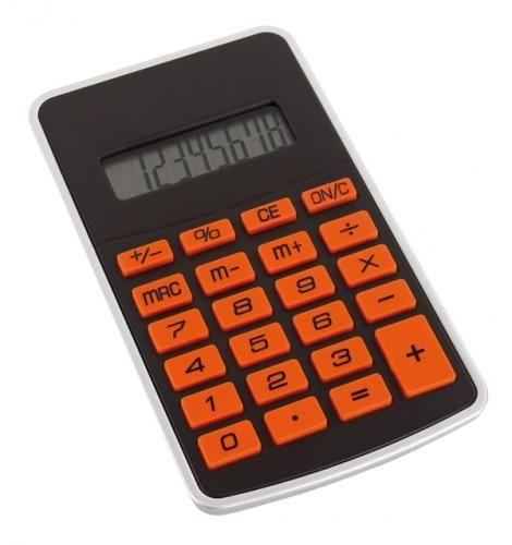 Kalkulator ″Touchy″, czarno-pomarańczowy