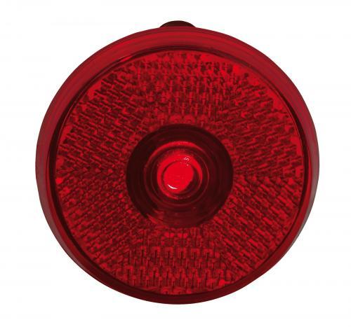 Lampka migająca, okrągła, SHOWDOWN, czerwony