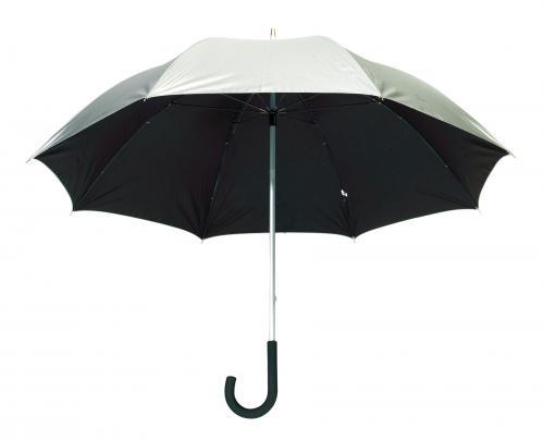 Lekki parasol SOLARIS, srebrny, czarny