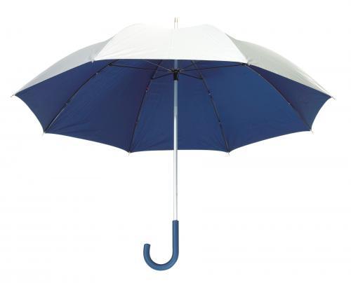 Lekki parasol SOLARIS, srebrny, niebieski