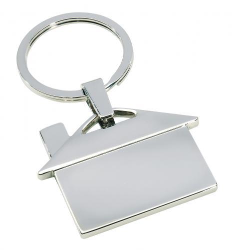 Metalowy brelok IN-HOUSE, srebrny
