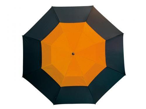 Parasol golf, MONSUN, czarny/pomarańczowy