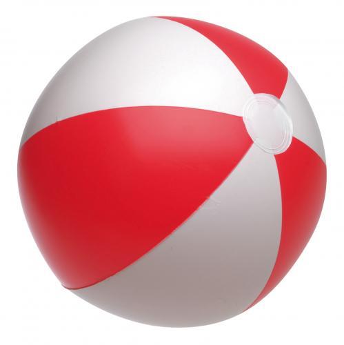 Nadmuchiwana piłka plażowa ATLANTIC, czerwony, biały