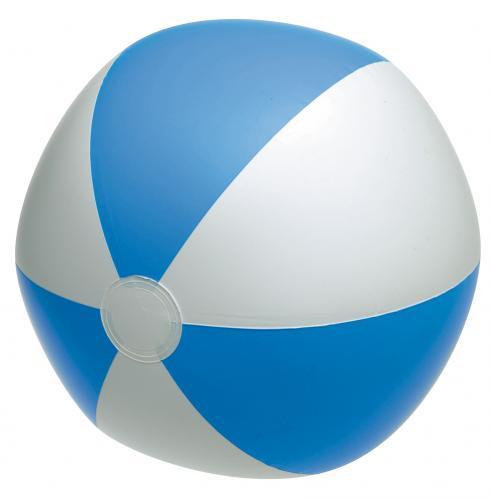 Nadmuchiwana piłka plażowa ATLANTIC, niebieski, biały