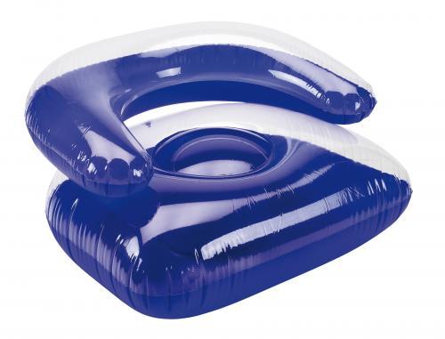 Nadmuchiwany fotel SEASIDE, transparentny, niebieski