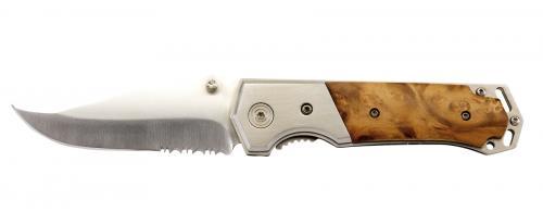 Nóż składany HUNTER, brązowy, srebrny