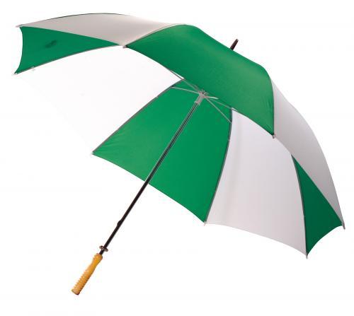 Parasol golf RAINY, zielony/biały