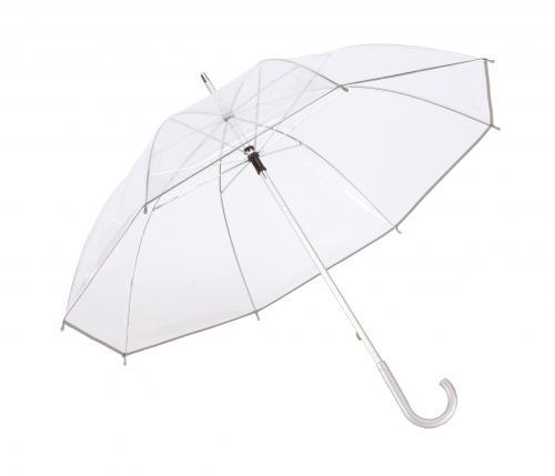 Parasol PANORAMIX, transparentny, srebrny
