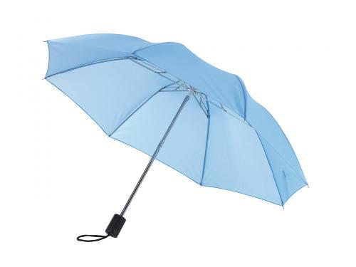 Parasol składany bez automatu REGULAR, błękitny