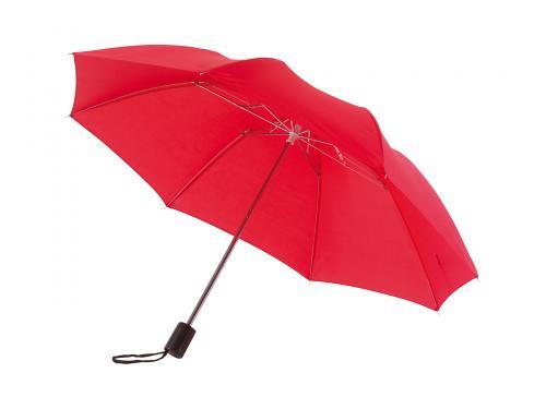 Parasol składany bez automatu REGULAR, czerwony