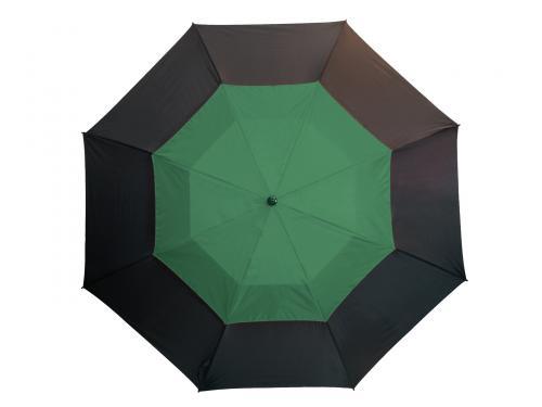 Parasol typu golf MONSUN, czarny, ciemnozielony