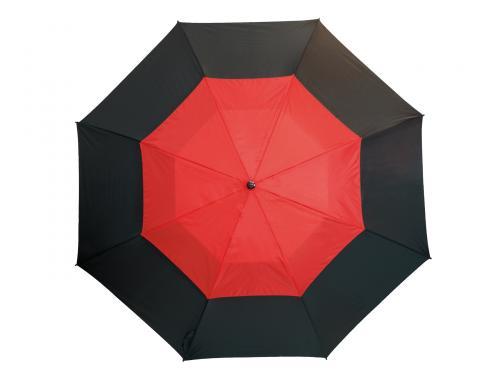 Parasol typu golf MONSUN, czarny, czerwony