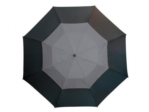 Parasol typu golf MONSUN, czarny, szary