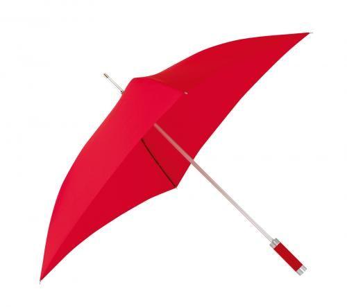 Parasol o kwadratowej czaszy, QUATRO, czerwony