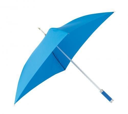 Parasol o kwadratowej czaszy, QUATRO, błękitny
