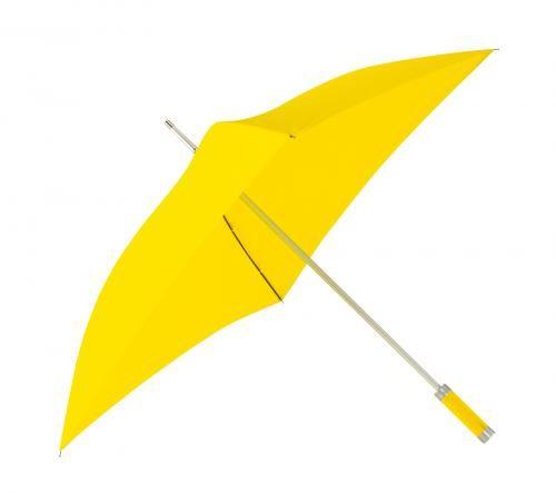 Parasol o kwadratowej czaszy, QUATRO, żółty