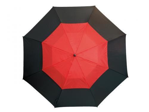 Parasol golf, MONSUN, czarny/czerwony