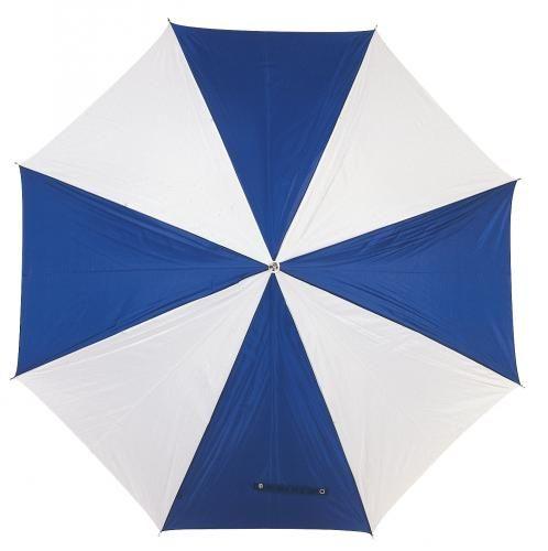 Parasol golf, RAINY, niebieski/biały
