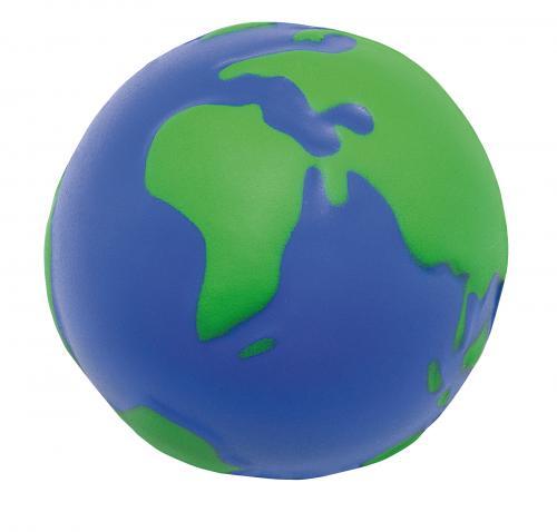 Piłeczka antystresowa KULA ZIEMSKA, niebieski, zielony