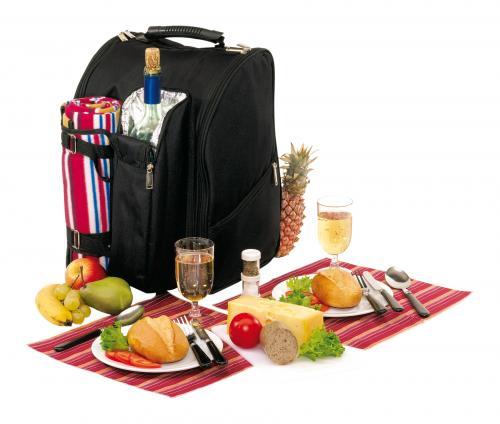 Plecak piknikowy DIABOLO, czarny, czerwony