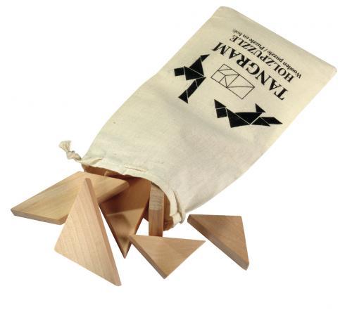 Puzzle drewniane TANGRAM, drewno
