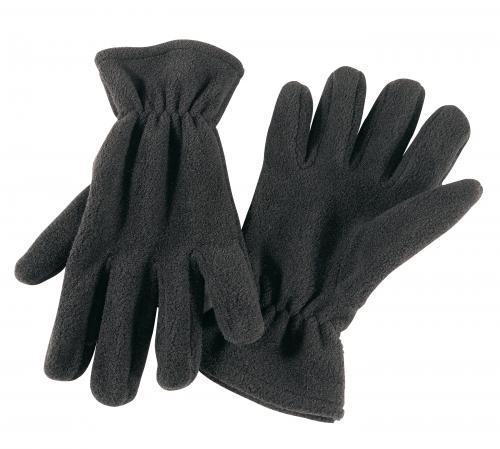 Rękawiczki z włókna polarowego ANTARCTIC, czarny