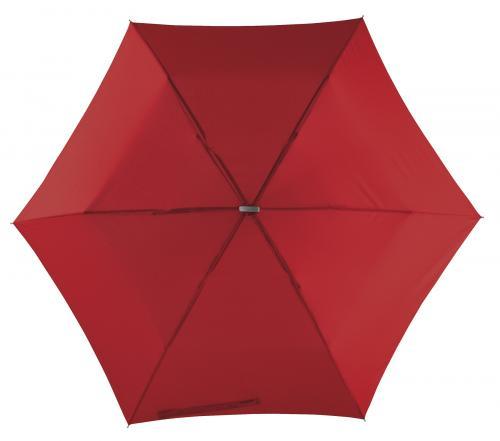 Super płaski parasol składany FLAT, ciemnoczerwony
