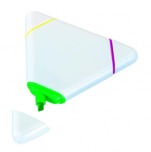 Zakreślacz trójkątny, 3 kolory, MARK IT, biały