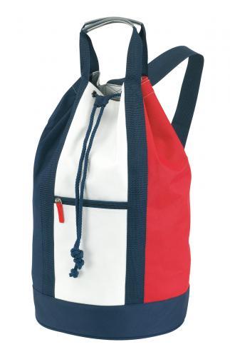 Worek marynarski MARINA, biały, niebieski, czerwony