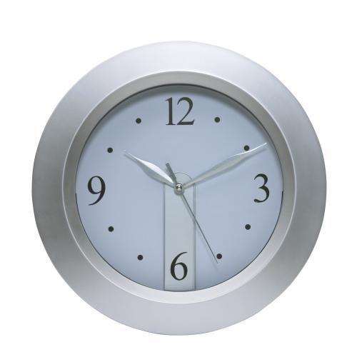 Zegar ścienny, MERCUR, srebrny