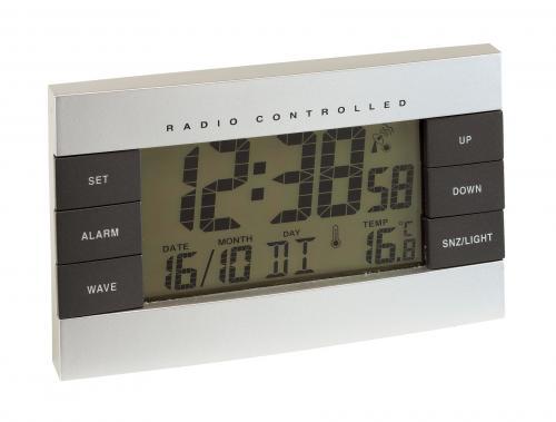 Zegarek kontrolowany radiowo NO LIMIT, srebrny