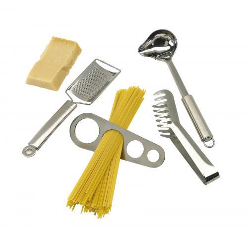 Zestaw do spaghetti AL DENTE, srebrny