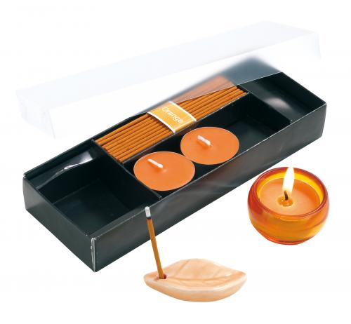 Zestaw świeczek ATMOSPHERE, pomarańcza
