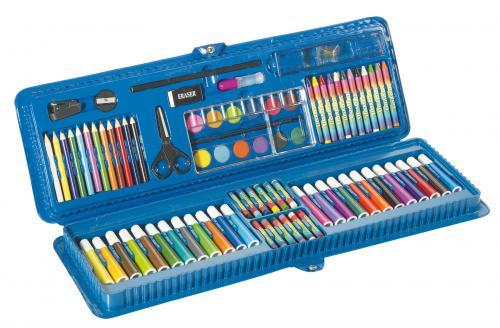 Zestaw szkolny, 85 części, ART, niebieski